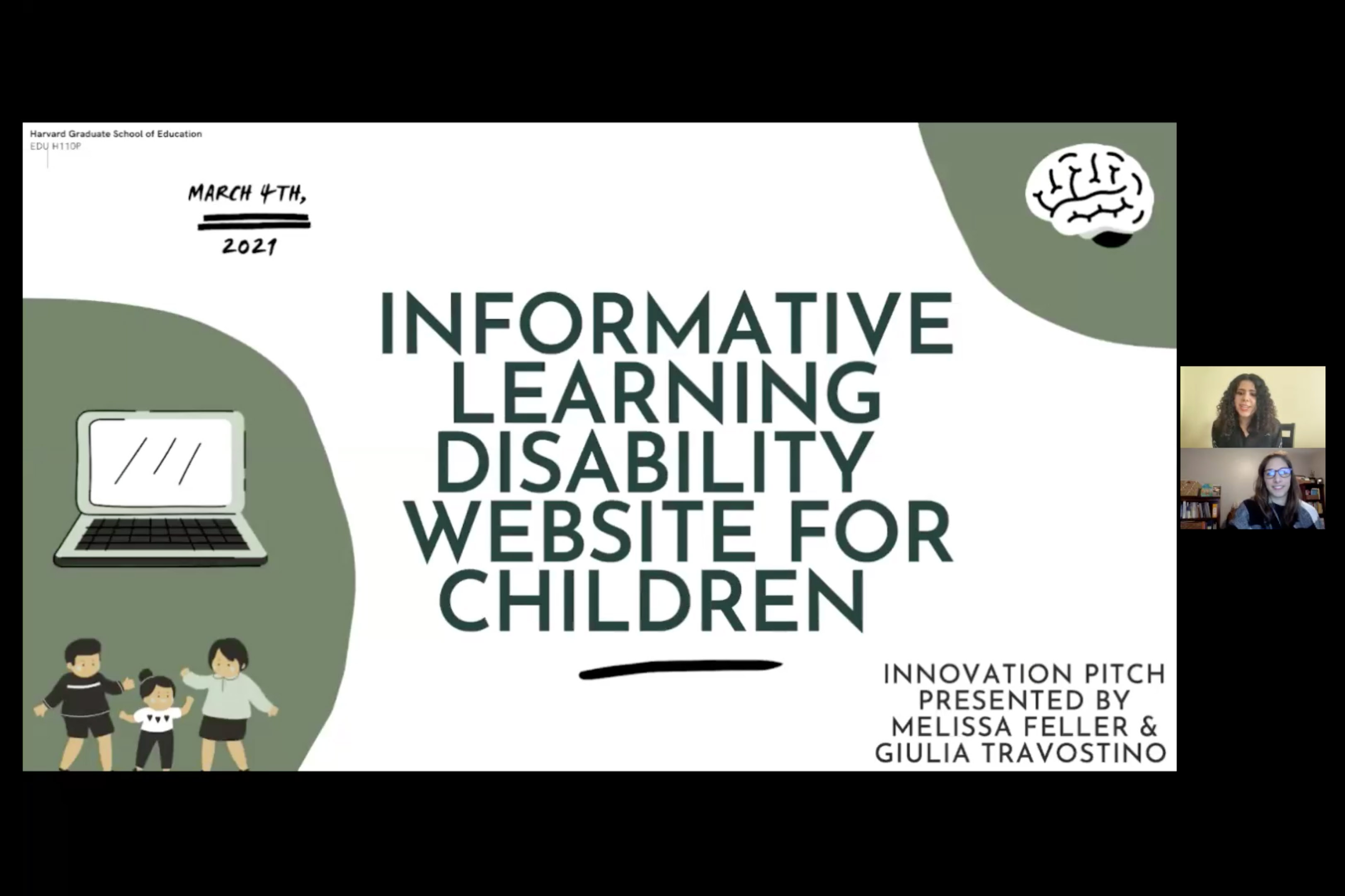 Slide from special education project