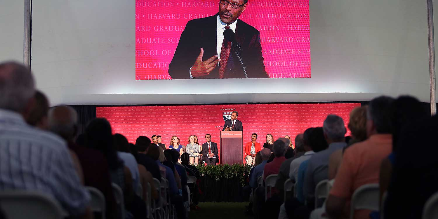 John Silvanus Wilson at HGSE Convocation