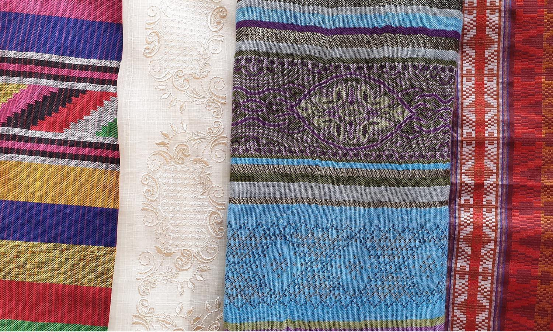 Bright-colored textiles