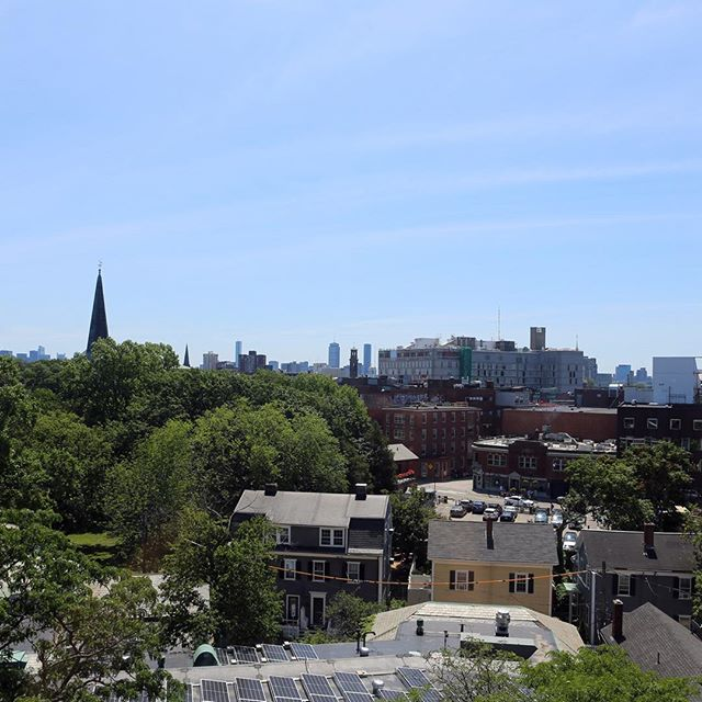 View of HGSE campus from Askwith Hall