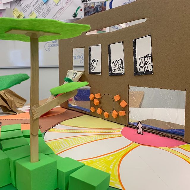 School design diorama