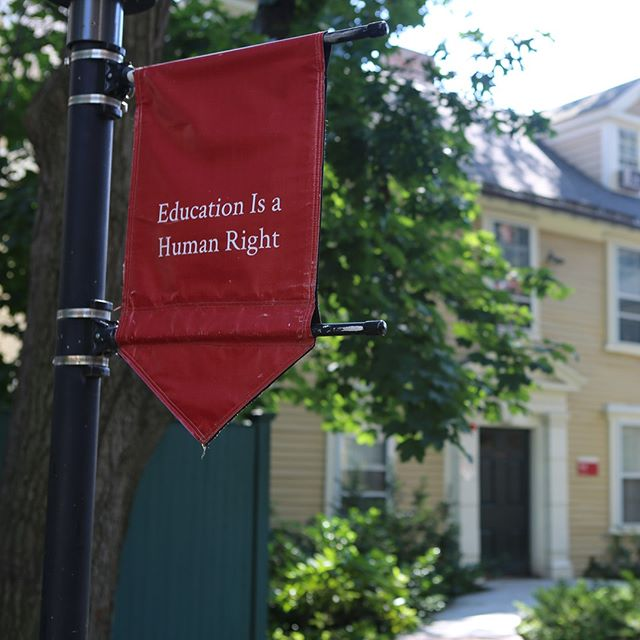 Education Is a Human Right banner