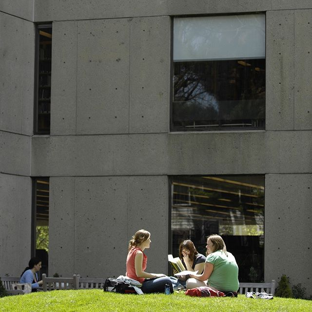 Students outside Gutman Library