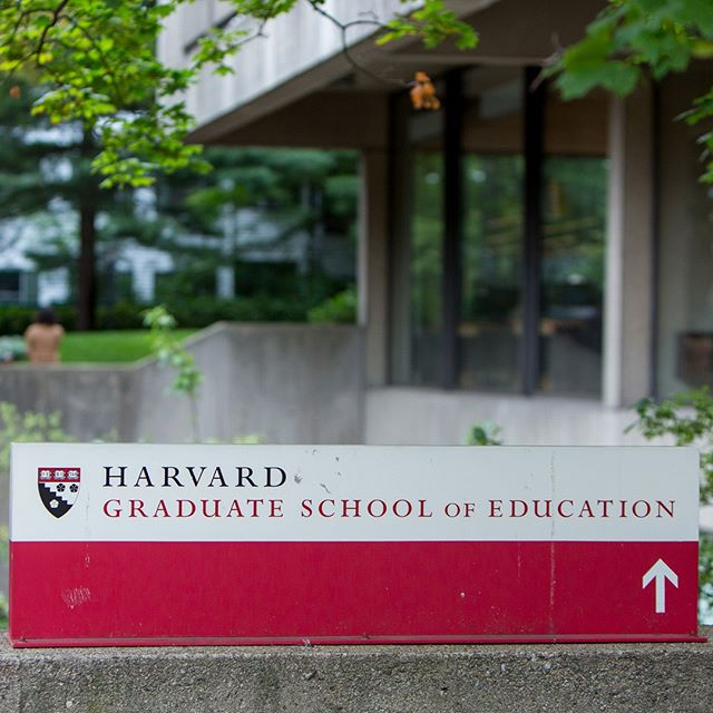 Harvard Graduate School of Education sign