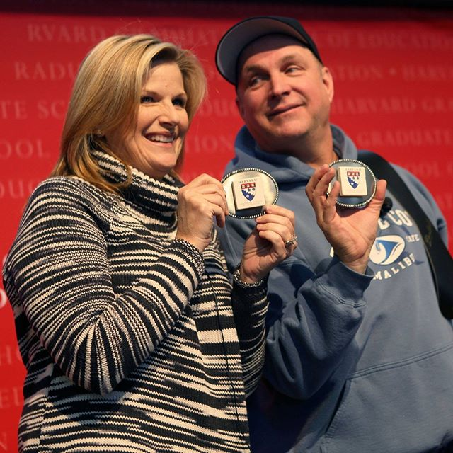 Trisha Yearwood and Garth Brooks in Askwith Hall