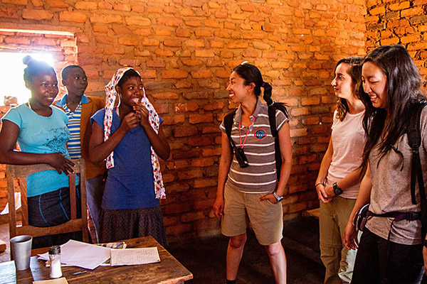 Envoys cofounder Marina Lee with students in Malawi