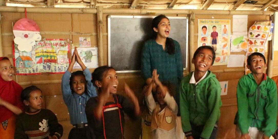 Richa Gupta with students