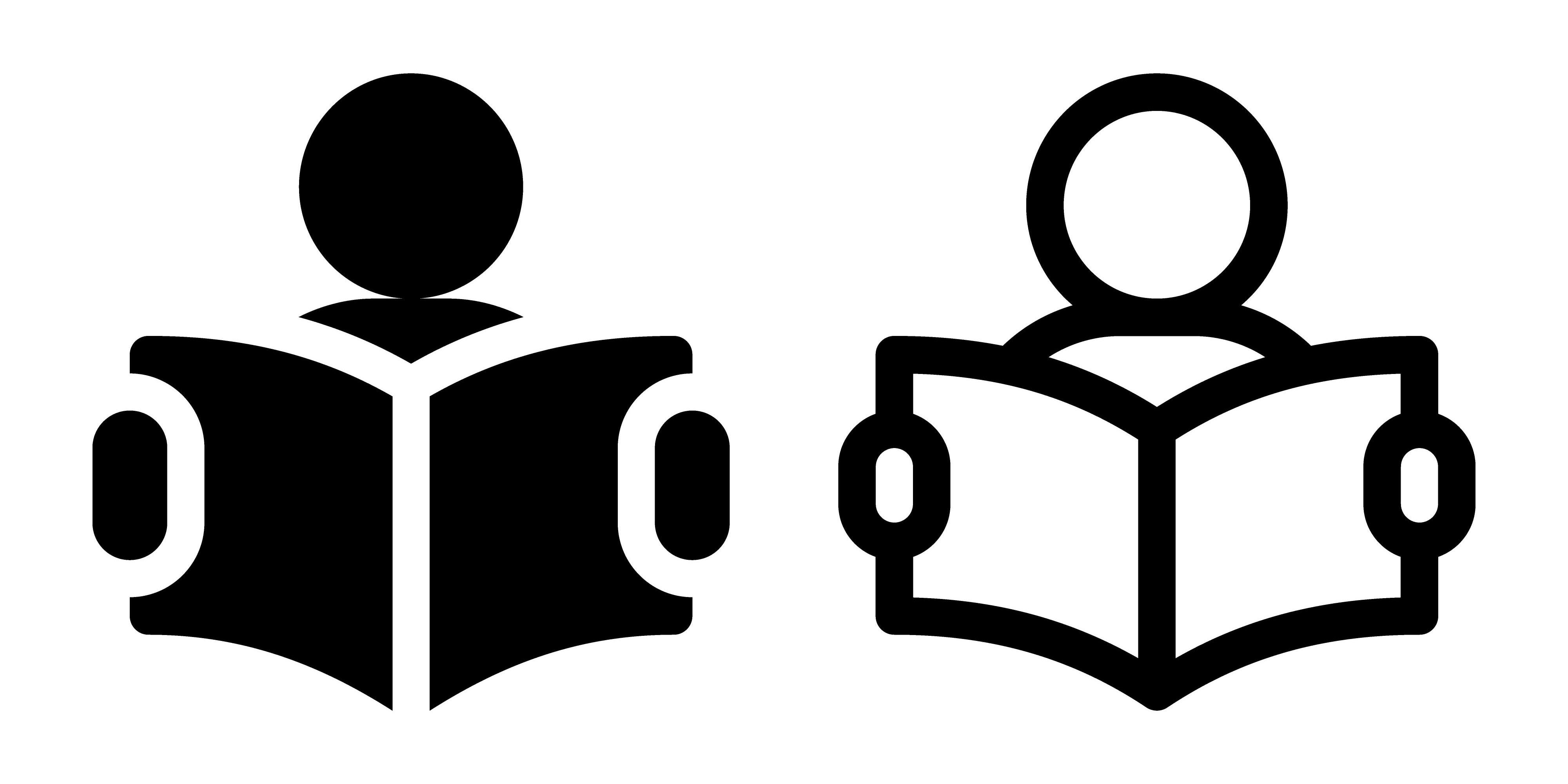 Illustration of people reading