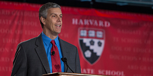 Sec. of Education Arne Duncan, photo by Lisa Abitbol