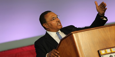 Freeman Hrabowski, president of UMBC, delivered the Convocation address on May 25.