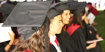 Happy graduates at Commencement ceremony