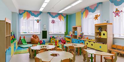 colorful kindergarten classroom