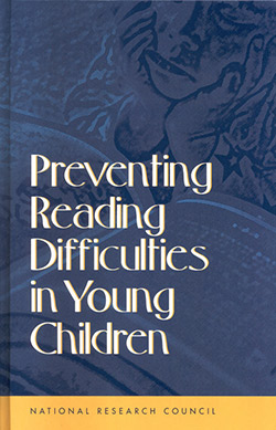 Preventing Reading Difficulties in Young Children Book Cover