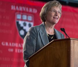 Harvard President Drew Faust, photo by Lisa Abitbol