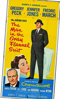 The Man in the Grey Flannel Suit with Gregory Peck poster