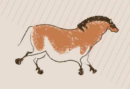 Horse cavepainting