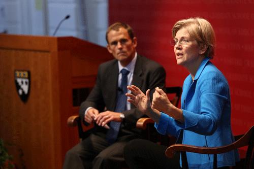 Elizabeth Warren Visits the Askwith Forum