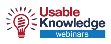 Usable Knowledge Webinars Logo