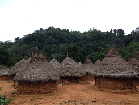 Kogi settlement in Colombia