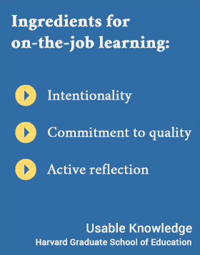 Intentionality, Commitment to quality, Active reflection