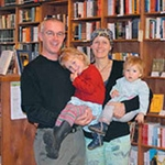 Brian Buckley with wife, Kate Hunter, and daughters Norah and Clare
