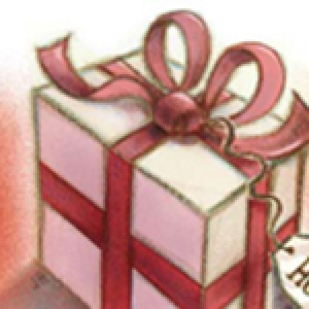 Illustration, wrapped gift
