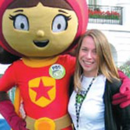 Devon Tutak with WordGirl