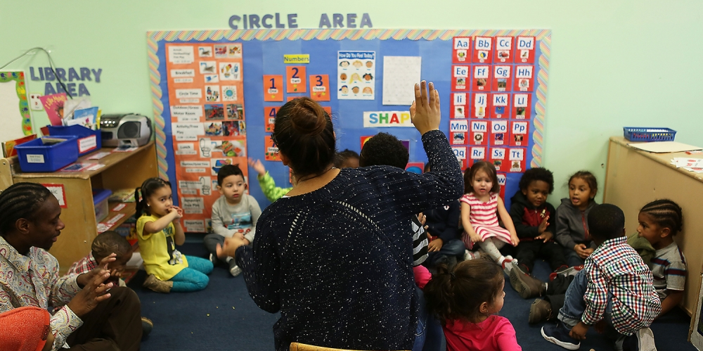 a photograph of an elementary school circle time