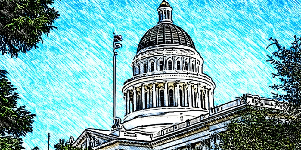 photo illustration of a municipal building or state capital