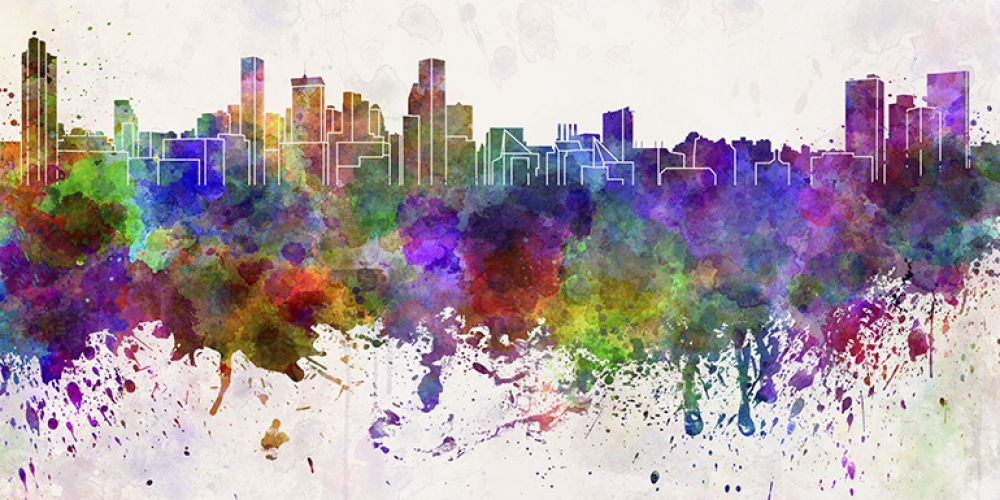 Baltimore watercolor skyline
