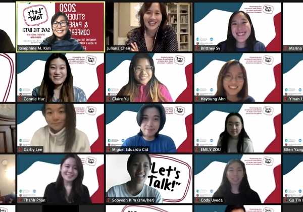 Zoom meeteing of Let's Talk organizers