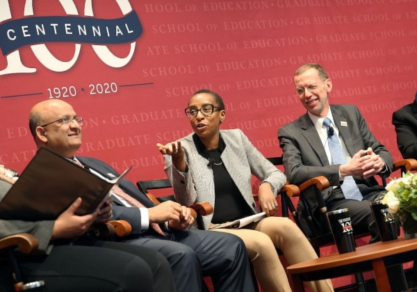 Deans panel at HGSE Centennial