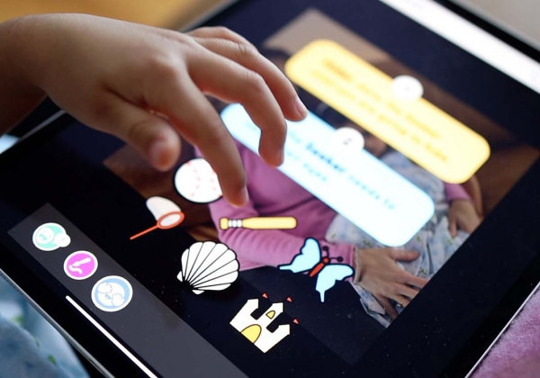 Early  literacy app on tablet