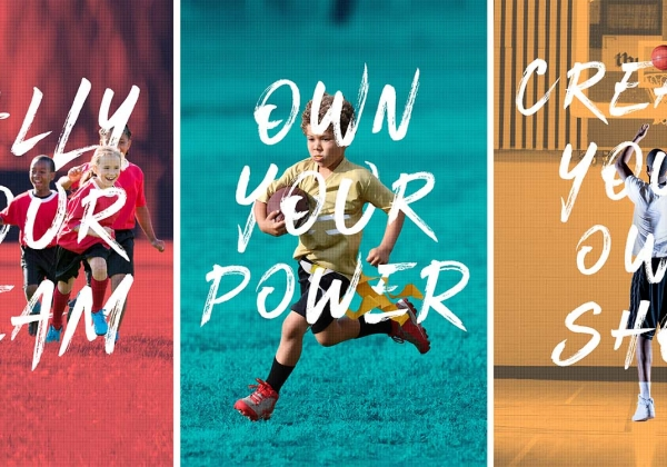Sports posters with young kids