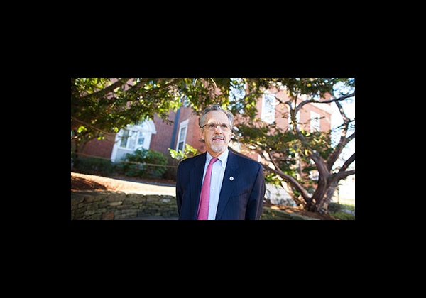 Paul Reville on the Harvard campus