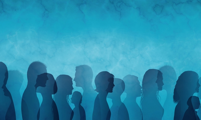Group profiles in blue