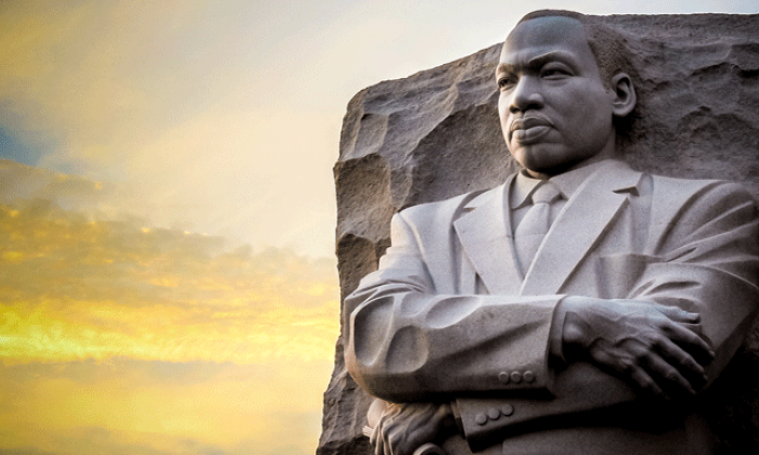 A photo of the Martin Luther King Jr. Memorial in Washington, DC