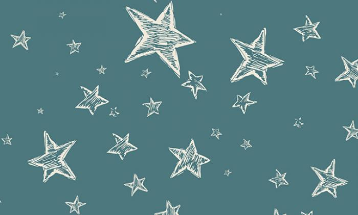 Chalkboard illustration with stars