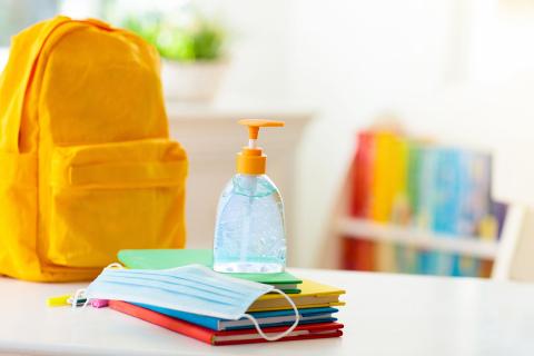 School supplies hand sanitizer