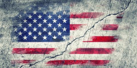 Fractured U.S. Flag