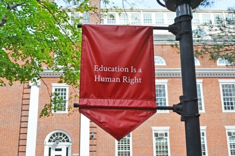Education is a Human Right Sign