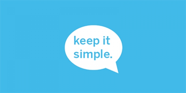 Keep it Simple thought bubble