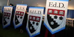 Commencement degree banners