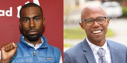 Photo of Domonic Rollins and Deray Mckesson