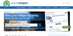 Website screenshot of goseecampus