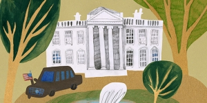 whimsical illustration of the White House