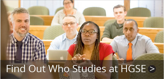 Find out who studies at HGSE