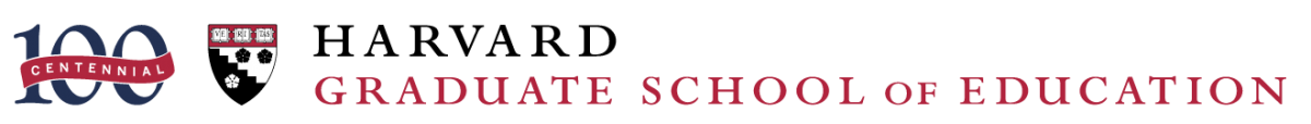 Harvard Graduate School of Education Centennial Logo