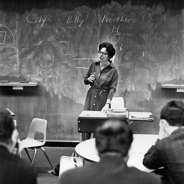 Jeanne Chall at HGSE early in her career