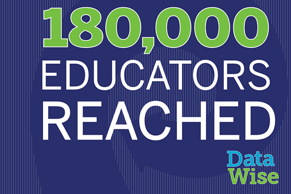 Graphic stating 180,000 educators reached